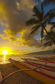 Outrigger Sunset print