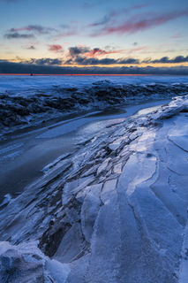Ice Sheets and Sunset print