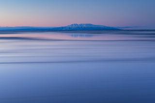 Cook Inlet, Sleeping Lady, Susitna, coastal, dusk, landscape, sunset, winter