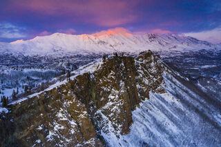 Alpenglow Rising print