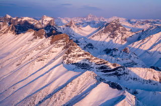 Alaska, Arrigetch Peaks, Brooks Range, Gates of the Arctic National Park & Preserve, aerial, landscape, morning, national park, winter