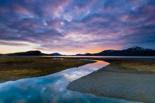 Sunset at the Bay print
