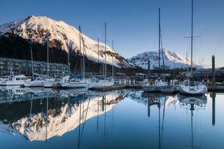 Seward Small Boat Harbor, Spring print