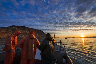 Herring Crew and Sunrise print