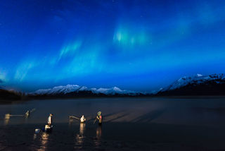 Chugach National Forest, Portage Valley, Spring, Turnagain Arm, aurora borealis, northern lights