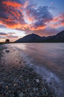 Storm's Sunset, Upper Twin Lake print