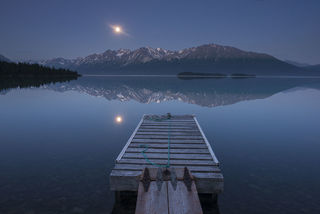 Moonrise Over Dock print