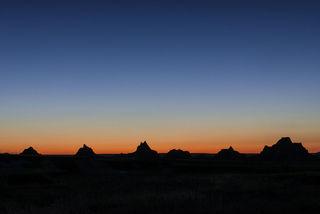 Badlands National Park, South Dakota, dusk, evening, landscape, national park, summer