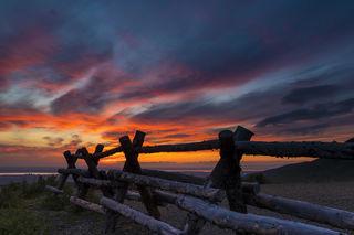 Fenceline Sunset print