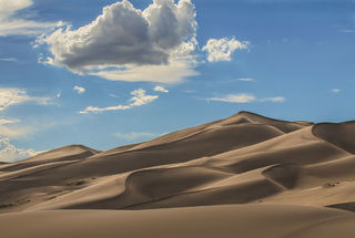 Dunes and Clouds print