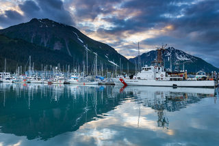 Seward Harbor, Summer Night print