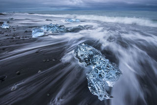 Black Sand and Ice print