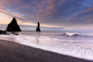 Surf and Reynisdrangar print