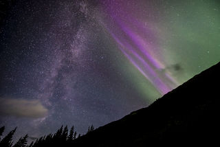 Aurora With Milky Way, Girdwood print