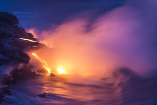 Purple Surf and Lava print