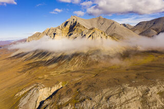 Alaska, Arctic, Autumn, Brooks Range, Drone, aerial, landscape, mountains