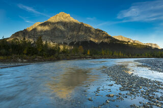 Alaska, Arctic, Autumn, Bettles River, Brooks Range, Mt. Dillon, evening, landscape