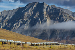 Alaska, Arctic, Autumn, Brooks Range, Dalton Highway, Trans-Alaska Pipeline, landscape, mountain