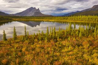 Alaska, Arctic, Autumn, Brooks Range, Drone, Sukakpak, aerial, landscape, mountain
