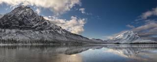 Fresh Snow on Mountains print