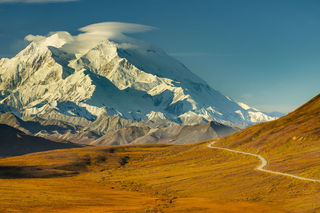 Autumn, Denali, Denali National Park, Stony Hill Overlook, landscape, morning, mountain, park road