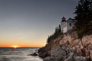 Lighthouse Sunset print