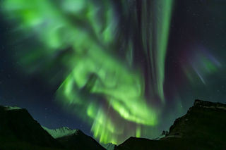 Alaska, Arctic, Autumn, Brooks Range, aurora borealis, landscape, night sky, northern lights