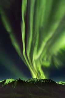 Autumn, Brooks Range, aurora borealis, landscape, night sky, northern lights