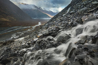 Chugach National Forest, Valley, stream, water