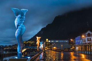 Downtown, Juneau, waterfront, public art, Alaska