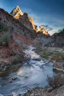 Utah, Virgin River, Zion National Park, desert, landscape, winter