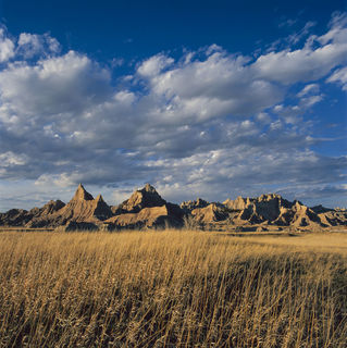Badlands National Park, North Unit, South Dakota, Spring, film, grasses, landscape, prairie