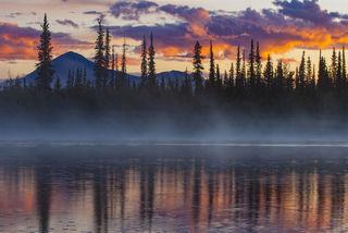 Sunrise and Mist print