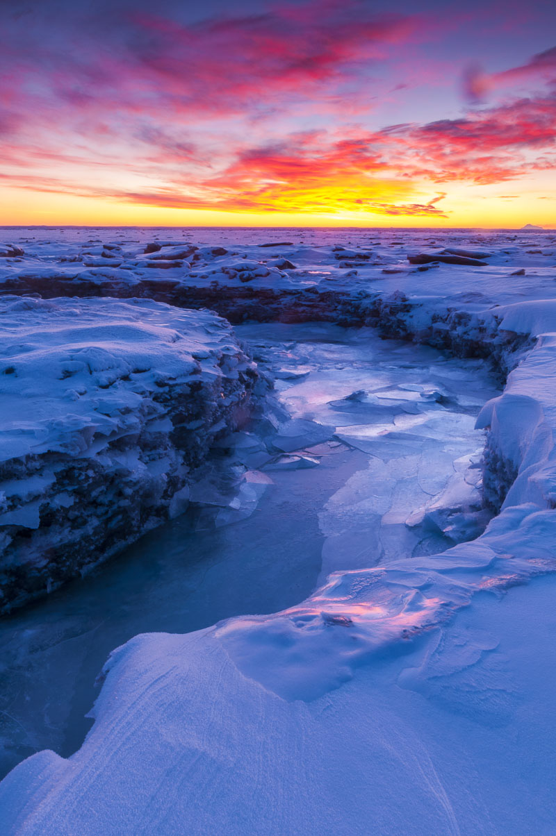 Anchorage, Anchorage Coastal Wildlife Refuge, coastal, cold, landscape, sunset, winter, photo