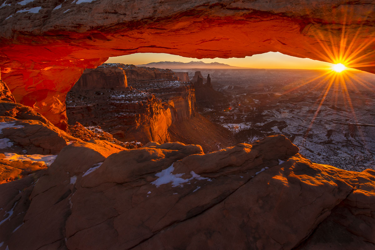 Sunrise at Mesa Arch, Canyonlands National Park, Utah. This is one of the iconic images to capture in the part of the Southwest...