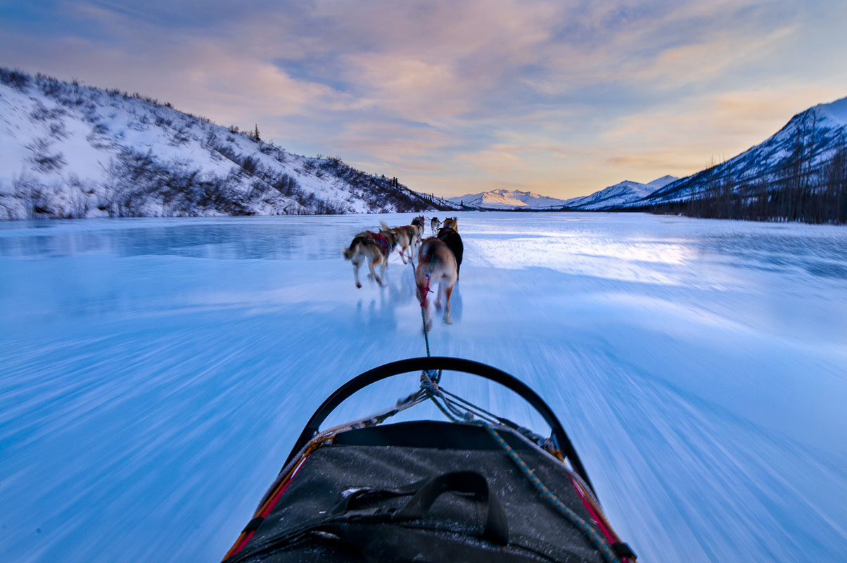I spent a few days with a National Park Service ranger and his dog team setting up a base camp in Gates of the Arctic National...