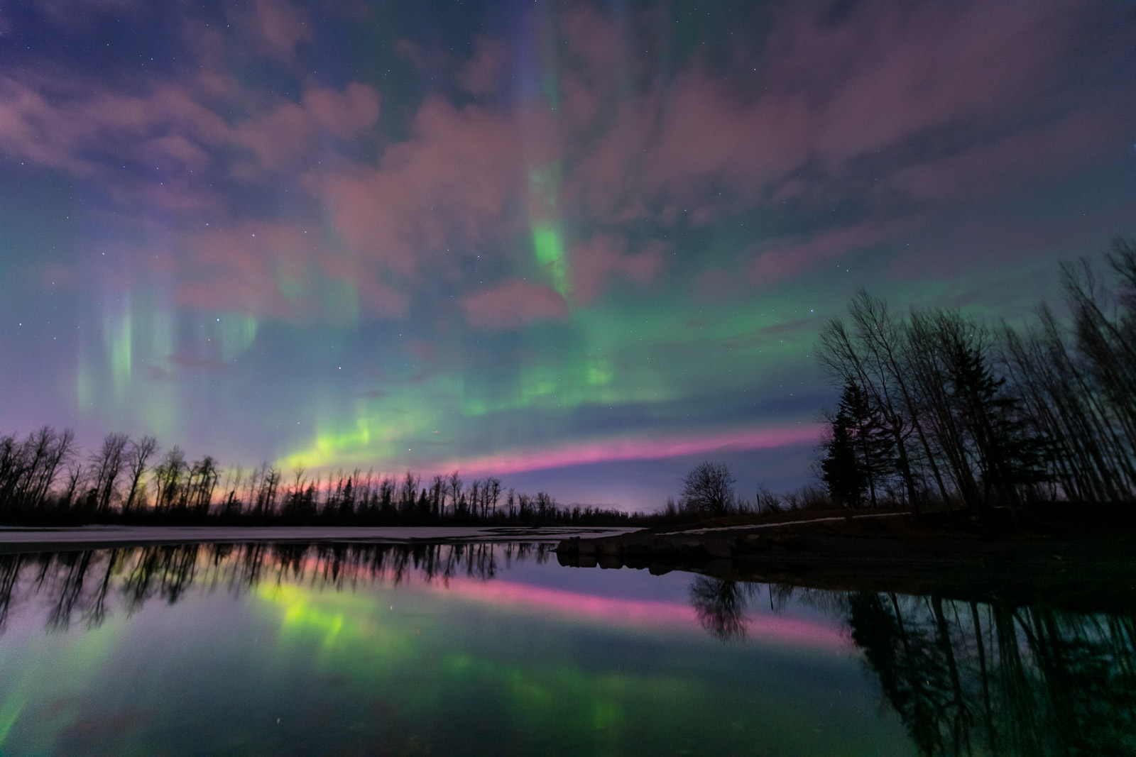 It has been an amazing season for aurora borealis photography, even seeing new colors. While we do occasionally see pink in the...