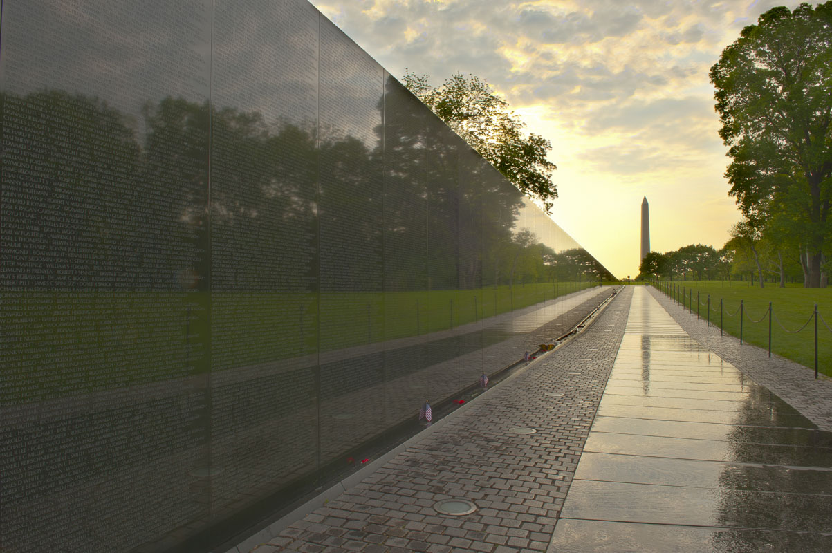 District of Columbia, HDR, National Mall, Vietnam Veterans Memorial, Washington, morning, sunrise, photo