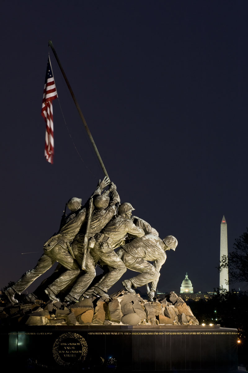 District of Columbia, Iwo Jima, Marine Corps Memorial, USMC, Virginia, Washington, statute, photo