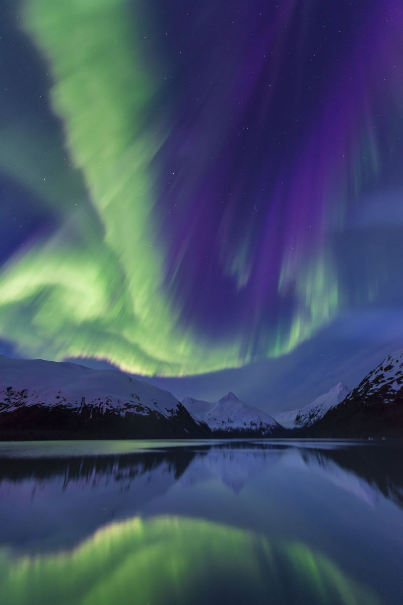 The aurora borealis season typically ends at the close of the first week of May in the Anchorage area. So, on this night before...