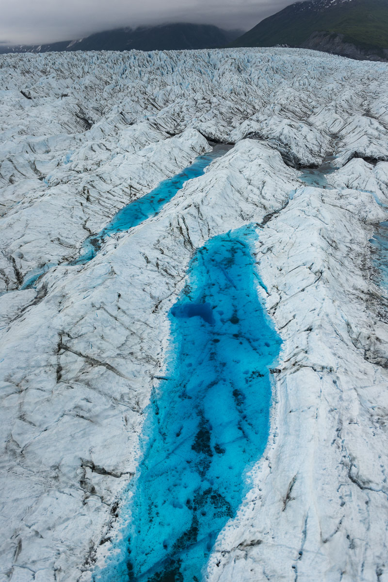 Glacier, Knik Glacier, aerial, helicopter, landscape, pool, summer, photo