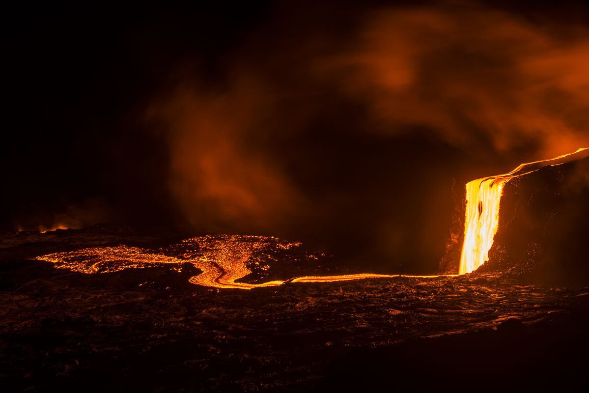 Hawaii, Hawaii Volanoes National Park, coastal, island, lava, nighttime, summer, tropical, photo