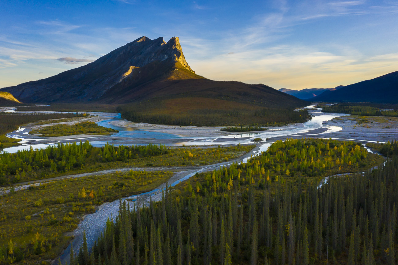 Two rivers converge, the Bettles and the Dietrich, forming a third - the Middle Fork of the Koyukuk - right at the base of Sukakpak...
