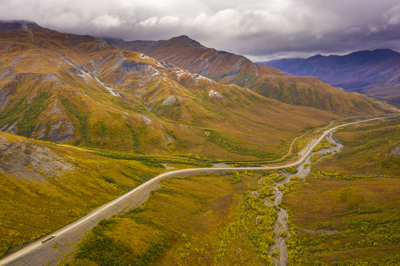 Alaska, Arctic, Autumn, Brooks Range, Dalton Highway, trucking, photo