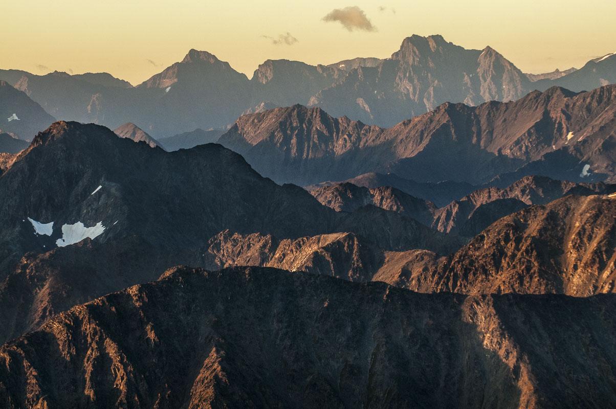 Alaska, Anchorage, Autumn, Chugach Mountains, aerial, landscape, photo