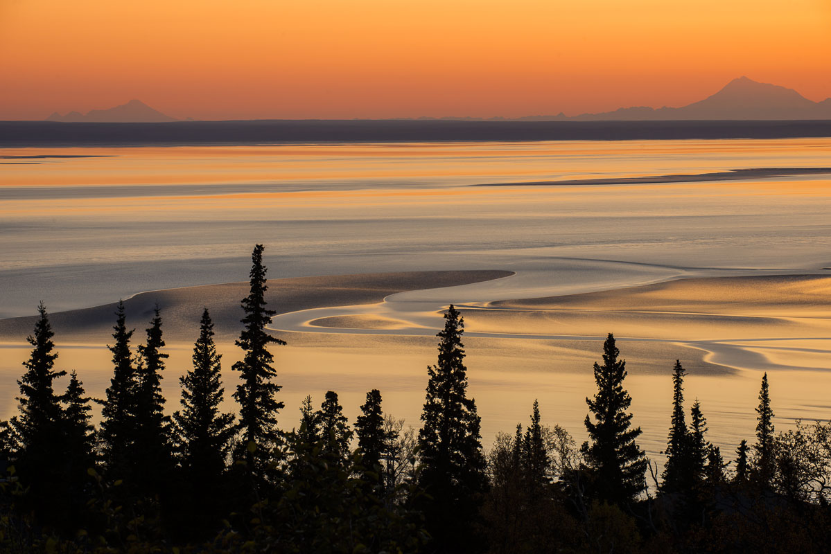 Alaska, Anchorage, Autumn, Cook Inlet, coastal, landscape, ocean, water, photo