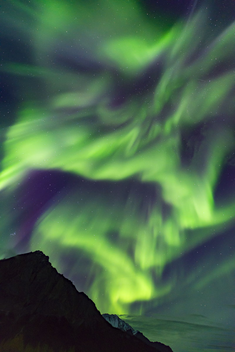 Alaska, Autumn, Brooks Range, Mt. Dillon, aurora borealis, landscape, northern lights, photo