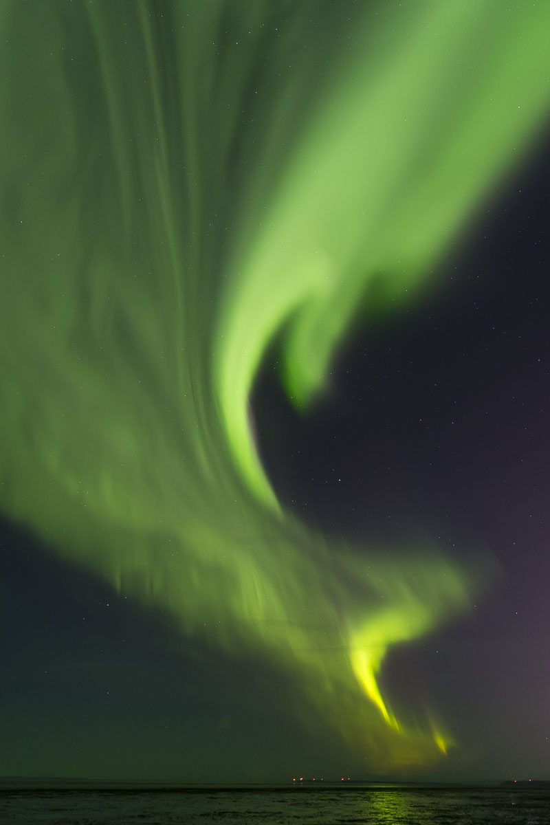 Anchorage Coastal Wildlife Refuge, Autumn, Cook Inlet, Potter Marsh, aurora borealis, northern lights, photo