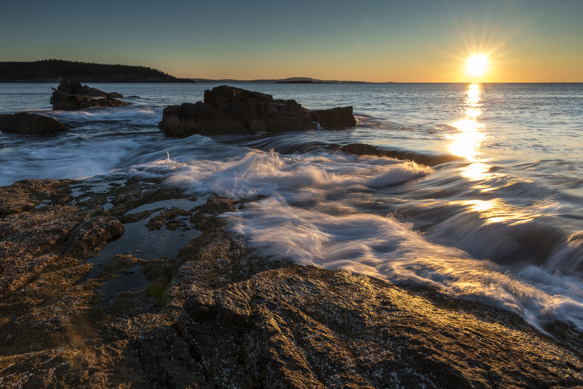 Acadia National Park, Atlantic Ocean, coastal, landscape, national park, ocean, sunrise, surf, photo