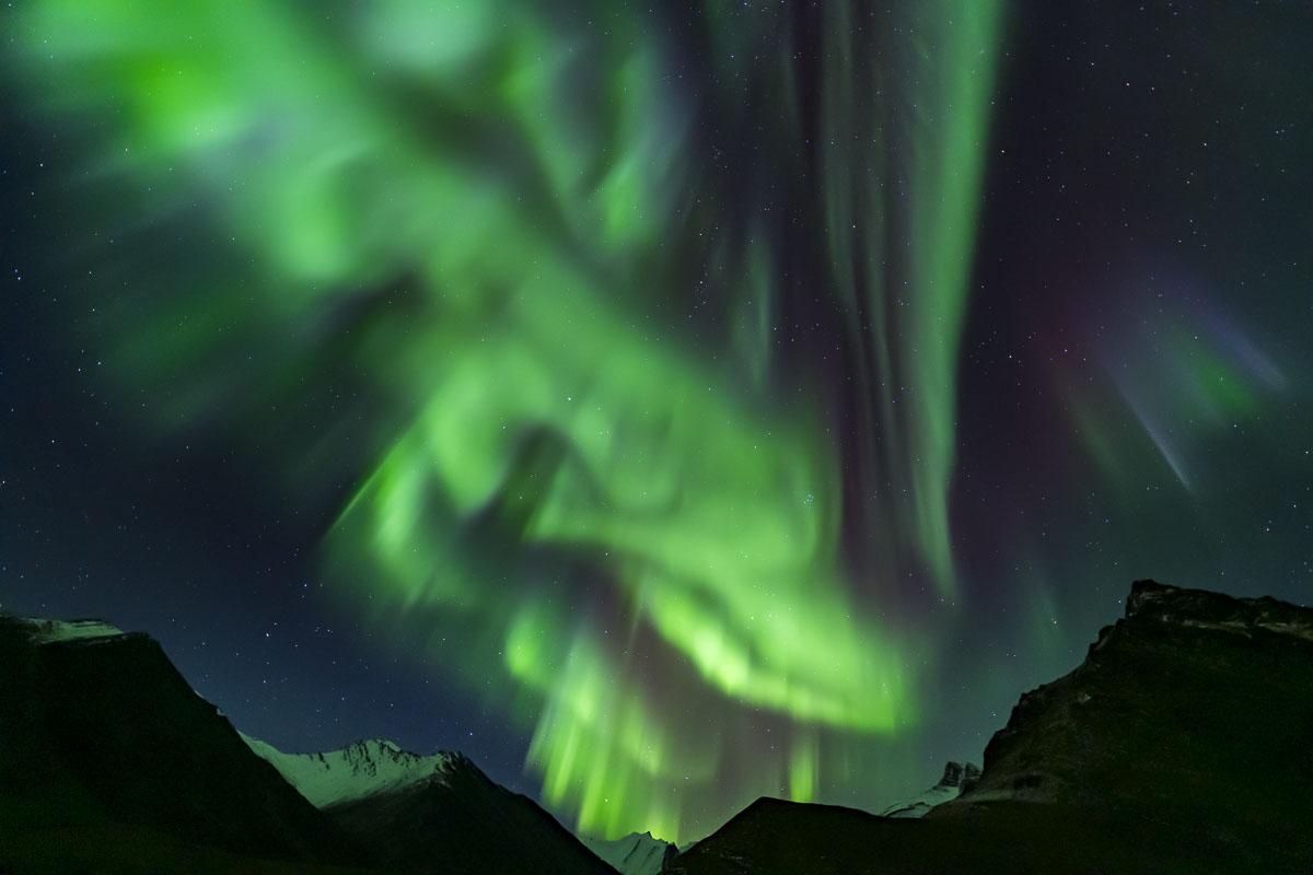 Alaska, Arctic, Autumn, Brooks Range, aurora borealis, landscape, night sky, northern lights, photo